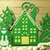 Winter Scene Cutting Die House, Trees, Snowman Style #2