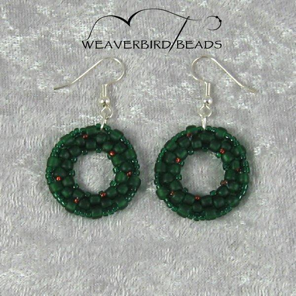 Beaded Wreath Earrings