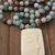 Knowledge & Awareness Long beaded Necklace with Buddha Pendant by Knotted UP