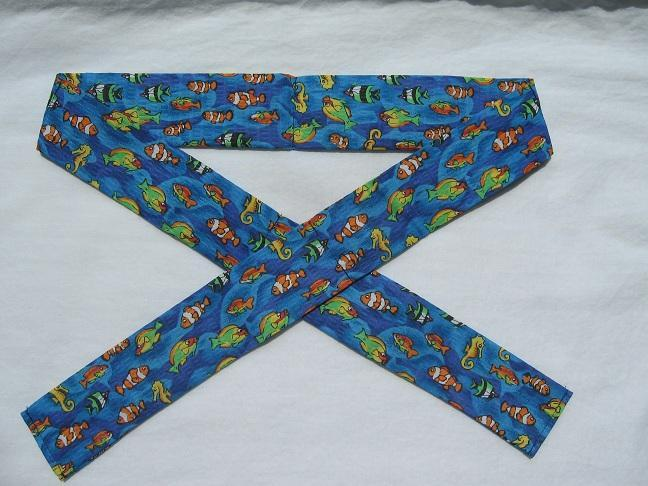 Colorful Fish Neck Cooler, Cool Tie, Cool Band