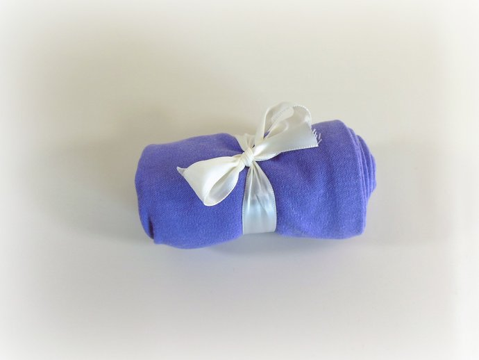 Swaddle Sack, Sleep Sack, Cocoon, Blanket, Wrap in Solid Purple