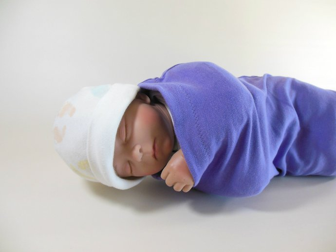 Swaddle Sack, Sleep Sack, Cocoon, Blanket, Wrap in Solid Purple