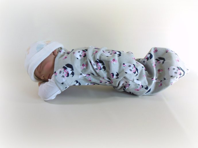 Swaddle Sack, Sleep Sack, Cocoon, Blanket, Wrap in Panda Bears