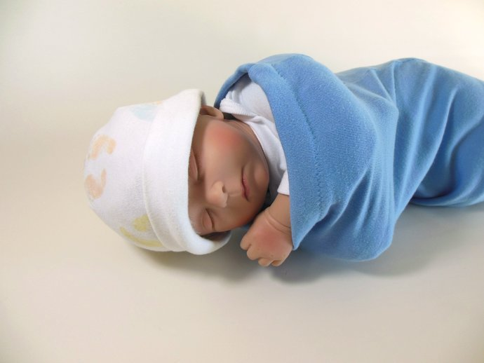 Swaddle Sack, Sleep Sack, Cocoon, Blanket, Wrap in Solid Light Blue