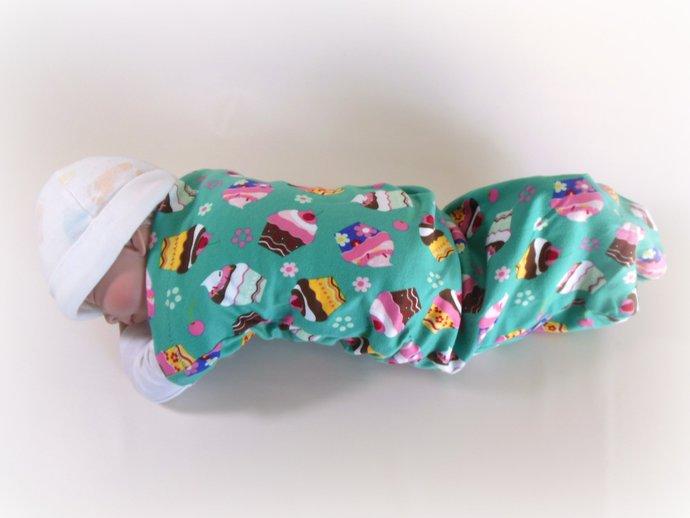 Swaddle Sack, Sleep Sack, Cocoon, Blanket, Wrap in Cupcakes