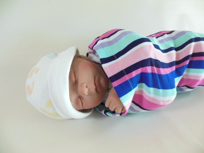 Swaddle Sack, Sleep Sack, Cocoon, Blanket, Wrap in Stripes