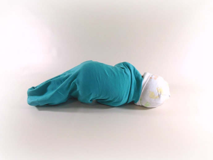 Swaddle Sack, Sleep Sack, Cocoon, Blanket in Solid Teal