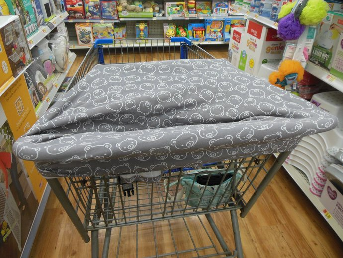 4 in 1 Car Seat Canopy, Nursing Cover, Grocery Cart Cover, High Chair Cover in