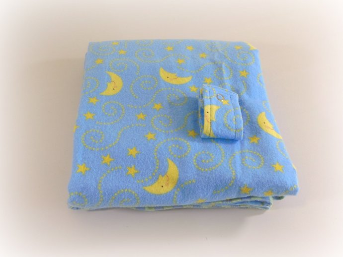 Car Seat Canopy, Car Seat Cover, Blanket, Play Mat in Moon & Stars