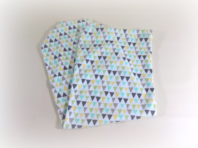 Infant Sack, Sleep Sack, Cocoon, Blanket in Geometric Triangles