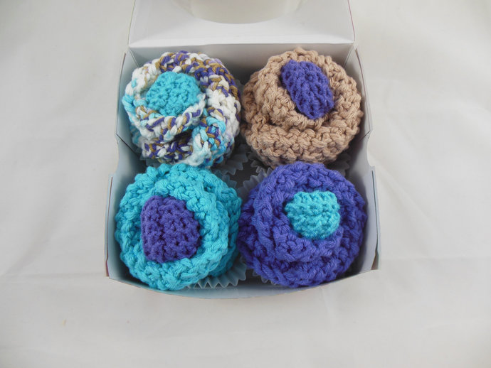 Baby Cupcakes, Washcloth Cupcakes, Four Double Knit Washcloths & Two Sets of