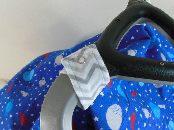 Car Seat Canopy, Cart Cover, Play Blanket in Outer Space & Chevron Prints