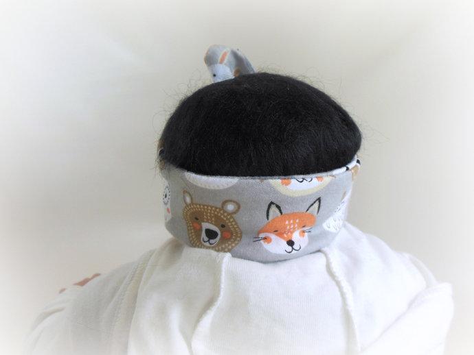 Infant Tie Knot Headband in Woodland Animals