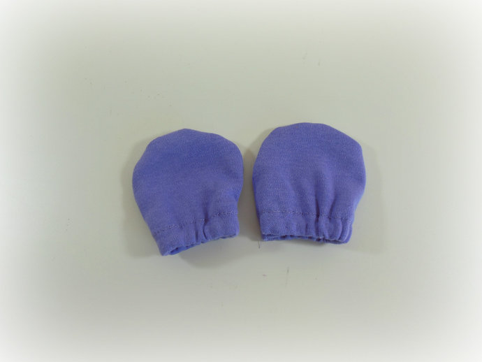 Infant Scratch Mittens, Baby Mittens, No Scratch Mittens in Purple
