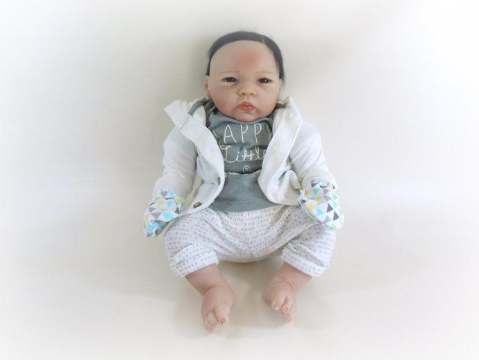 Infant Scratch Mittens, Baby Mittens, No Scratch Mittens in Pastel Geometric