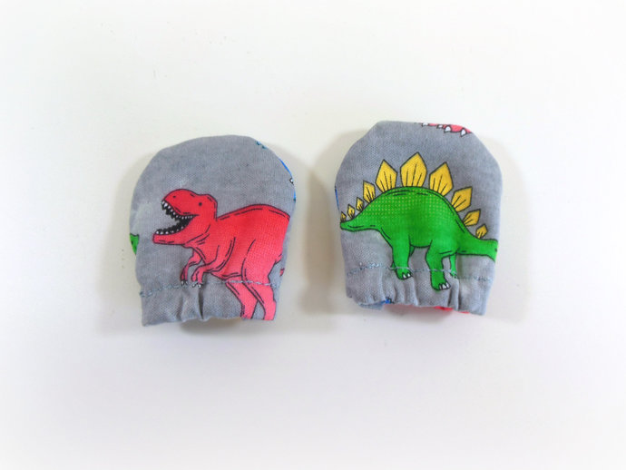 Infant Scratch Mittens, Baby Mittens, No Scratch Mittens in Dinosaurs