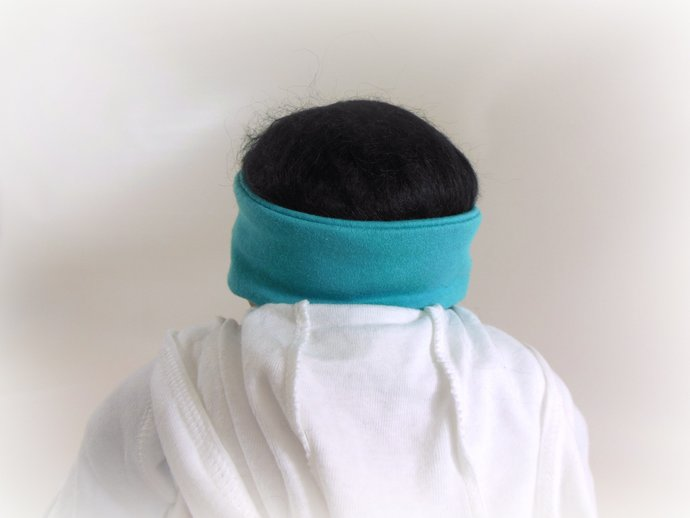 Infant Stretch Tie Knot Headband in Teal