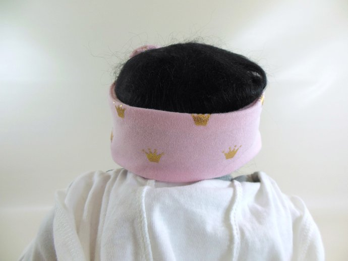 Infant Stretch Tie Knot Headband in Princess Crowns