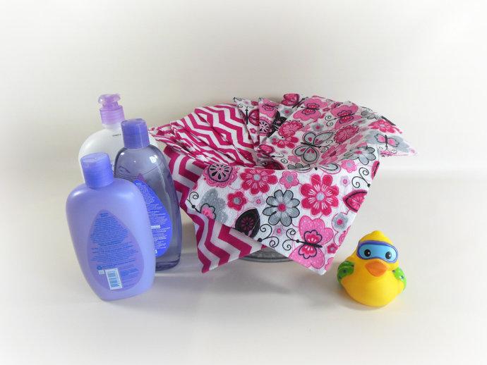 2 Ply Cloth Wipes, Washcloths, Burp Cloths, Handkerchiefs Set of 12 in