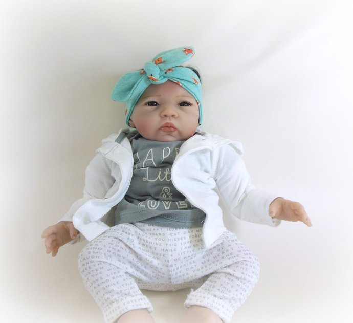 Infant Tie Knot Headband in Foxes