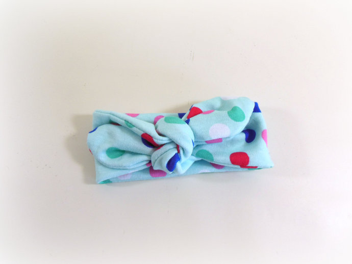 Infant Stretch Ti Knot Headband in Polka Dots