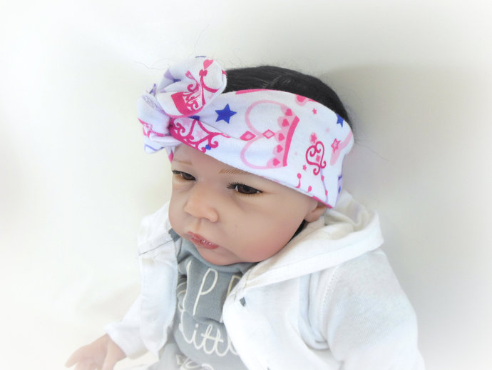 Infant Stretch Tie Knot Headband in Princess