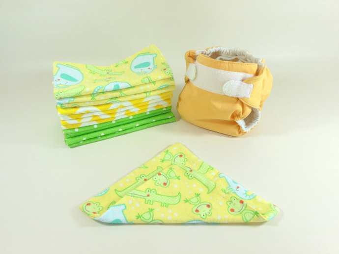 Cloth Wipes, Washcloths, Burp Cloths, Handkerchiefs, Napkins Set of 12 in