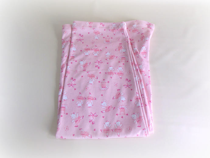 Car Seat Canopy, Nursing Cover, Cart Cover in Pink Ballerina Bears