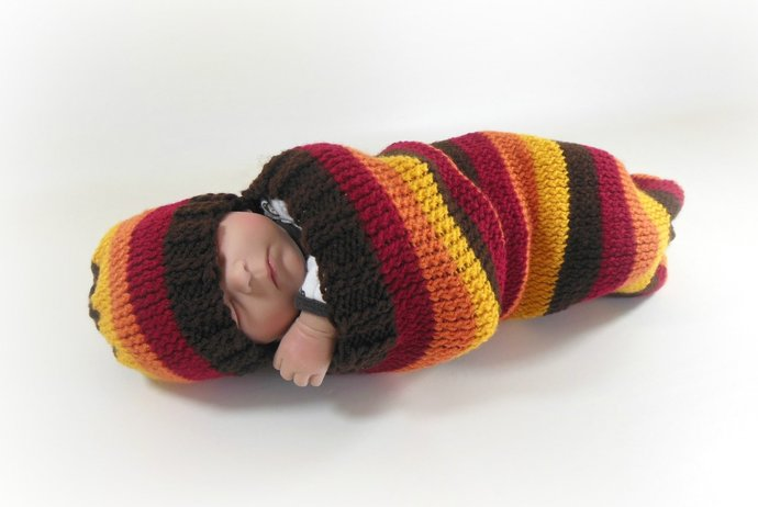 Cocoon, Sleep Sack, Sleep Bag, Blanket in Fall Stripes