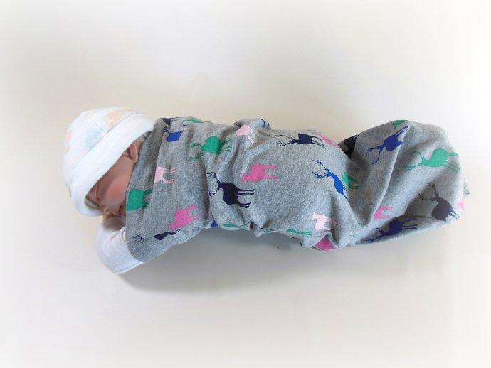 Swaddle Sack, Sleep Sack, Cocoon, Blanket, Wrap in Deer & Doe