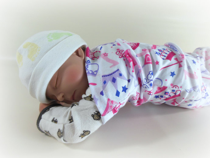 Swaddle Sack, Sleep Sack, Cocoon, Blanket in Princess