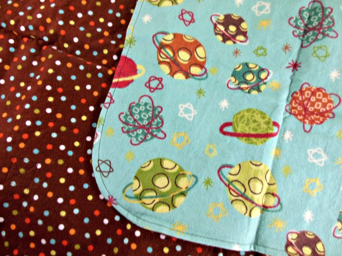 Car Seat Canopy, Car Seat Cover, Cart Cover, Blanket, Play Mat in Planets