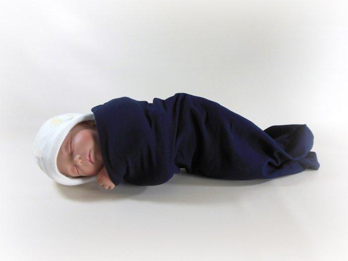 Swaddle Sack, Sleep Sack, Cocoon, Blanket, Wrap in Navy