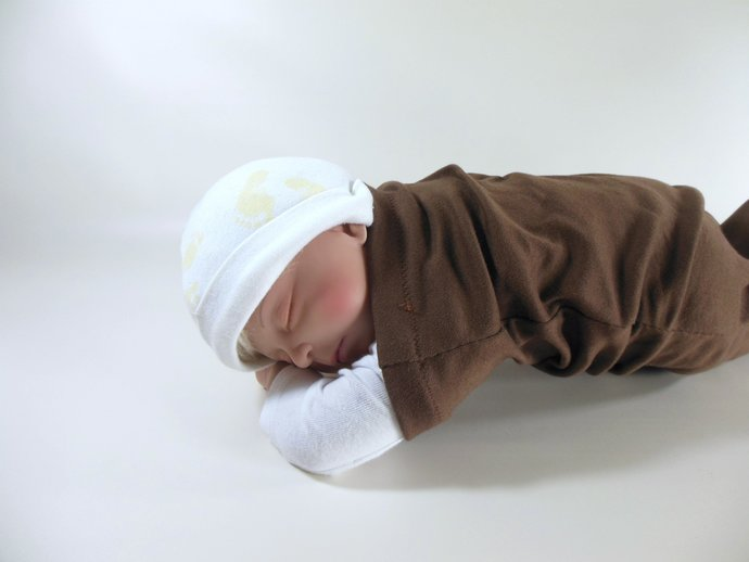 Swaddle Sack, Sleep Sack, Cocoon, Blanket, Wrap in Brown