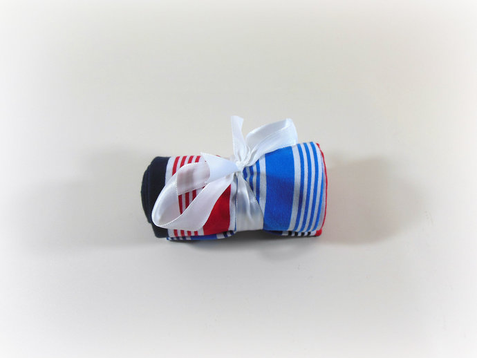 Swaddle Sack, Sleep Sack, Cocoon, Blanket, Wrap in Red White Blue Stripes