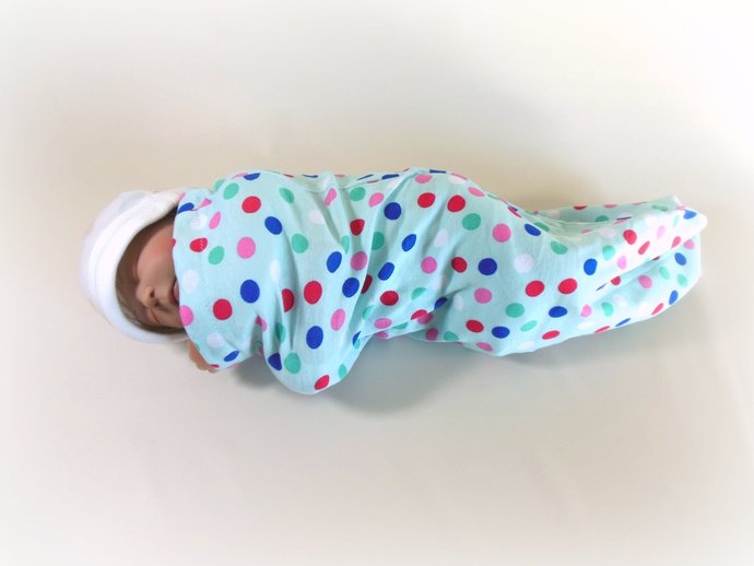 Set of 3 Swaddle Sacks, Sleep Sack, Cocoon, Blanket, Wrap in Unicorn, Polka Dot,