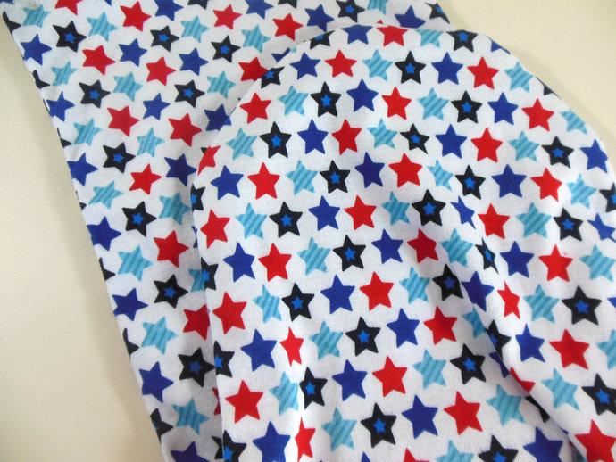 Swaddle Sack, Sleep Sack, Cocoon, Blanket in Red, White, & Blue Stars