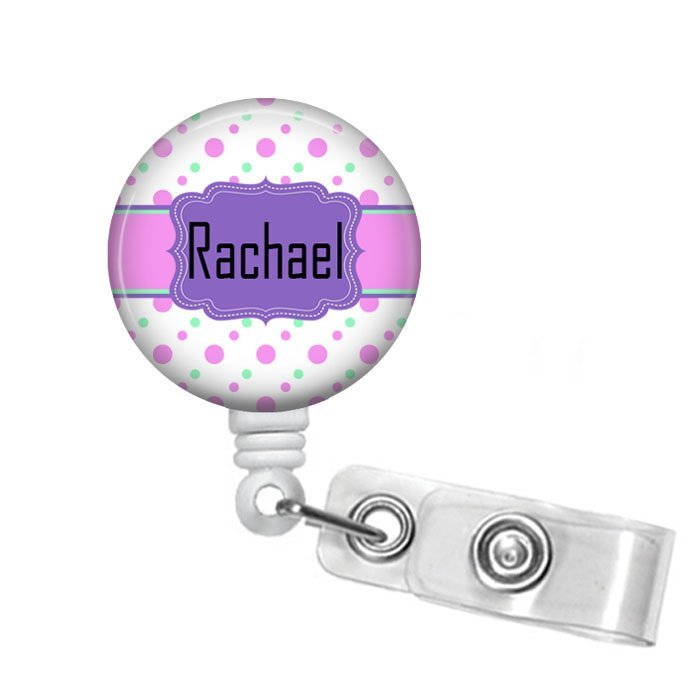 Personalized Badge Reel, Retractable Badge Holder, Badge Pull, Card Holder, Name