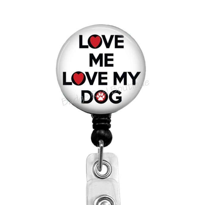 Badge Reels, Retractable Badge Holder, Dog Lover Badge Reel, Animal Badges,