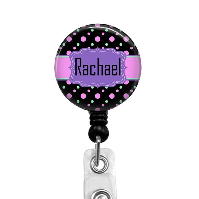 Personalized Badge Reel Retractable Badge Holder Nurse Badges Security Name
