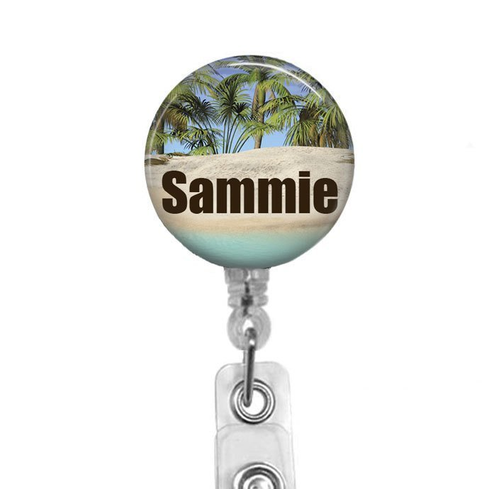 Nurse Badge Reel, Personalized Name Badge, Retractable Badge Holder, RN Badge,