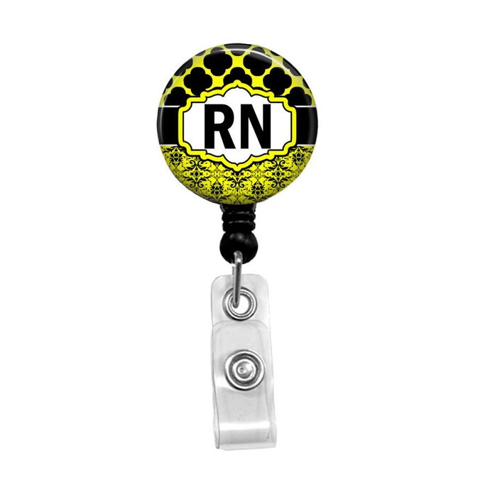 Nurse Badge Reel, Retractable Badge Holder, RN Badge, Personalized Name Badge,
