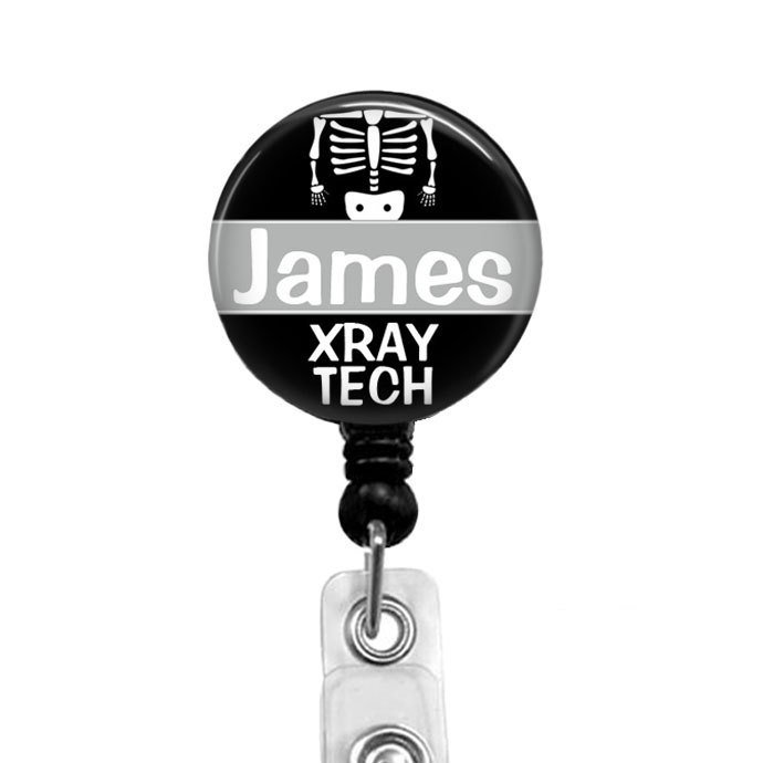 Personalized Retractable Badge Holder, Xray Tech Badge Reels, X-ray Badge Reel,