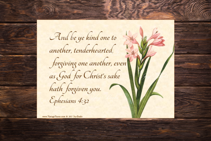 BE KIND Ephesians 4:32 Vintage Verses DIY Inspirational Wall Art Printable