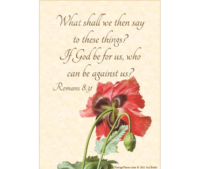 GOD IS FOR US Romans 8:31 Vintage Verses DIY Inspirational Wall Art Printable