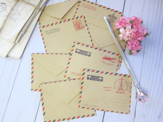 Mini Envelopes Cardmaking, Scrapbooking, Journal, Junk Journal Retro Vintage