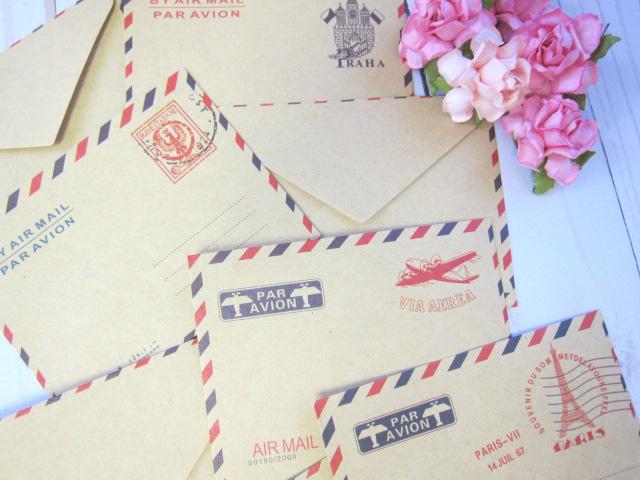 Mini Envelopes Cardmaking, Scrapbooking, Journal, Junk Journal Retro Vintage