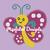 Pretty Butterfly Pattern - SC - 110x130 Baby - Graph w/Written - Full Version