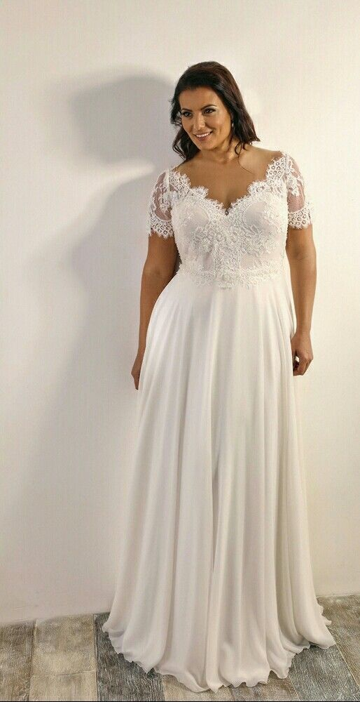 Short Sleeve Informal Wedding Dress, Plus by MisDaisyStyle on Zibbet
