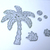 10pc Surfboard Coconut Tree, Coconuts, Grass Cutting Die Set